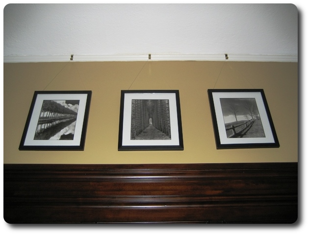 Photos hanging from Picture Molding