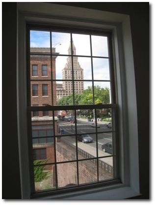 View of Travelers Tower from 487 Main Street in Hartford