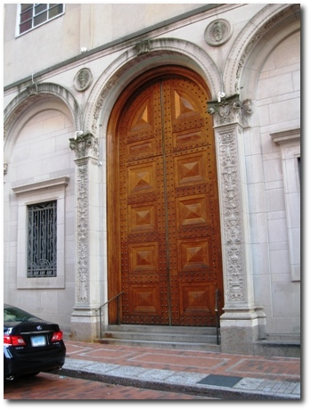 The Giant Doors of the Society Room in Downtown Hartford