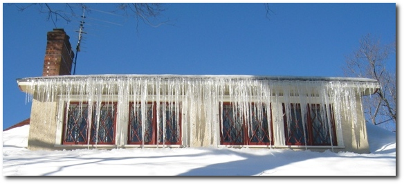 Icicles Glittering in the Sun