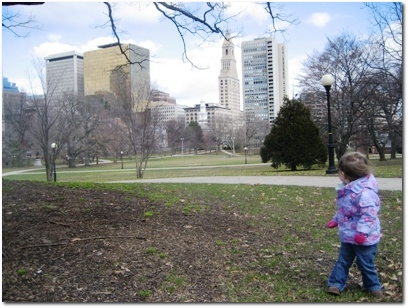 Downtown Hartford from Bushnell Park
