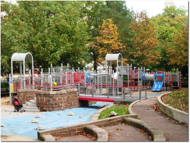 Bushnell Park Playground - Both Playscapes