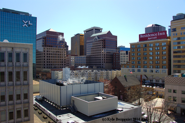 Hartford Skyline From Morgan Street Garage