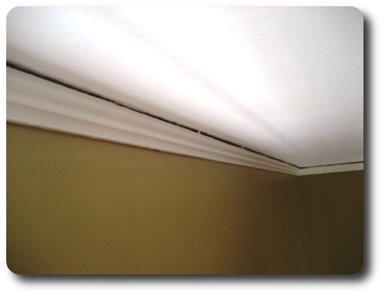 Near Ceiling Older Homes Often Have Noticeable Gaps Between